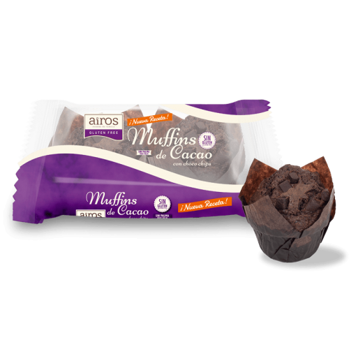 Muffins de Cacao con choco...